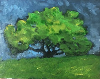 Original acrylic painting 'Oak Tree' -Overbeck