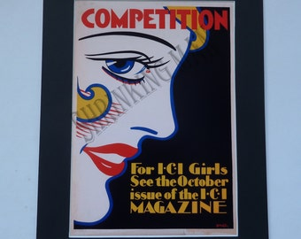 VINTAGE 1920's advertising poster - A3 mounted (50 x 40)cm
