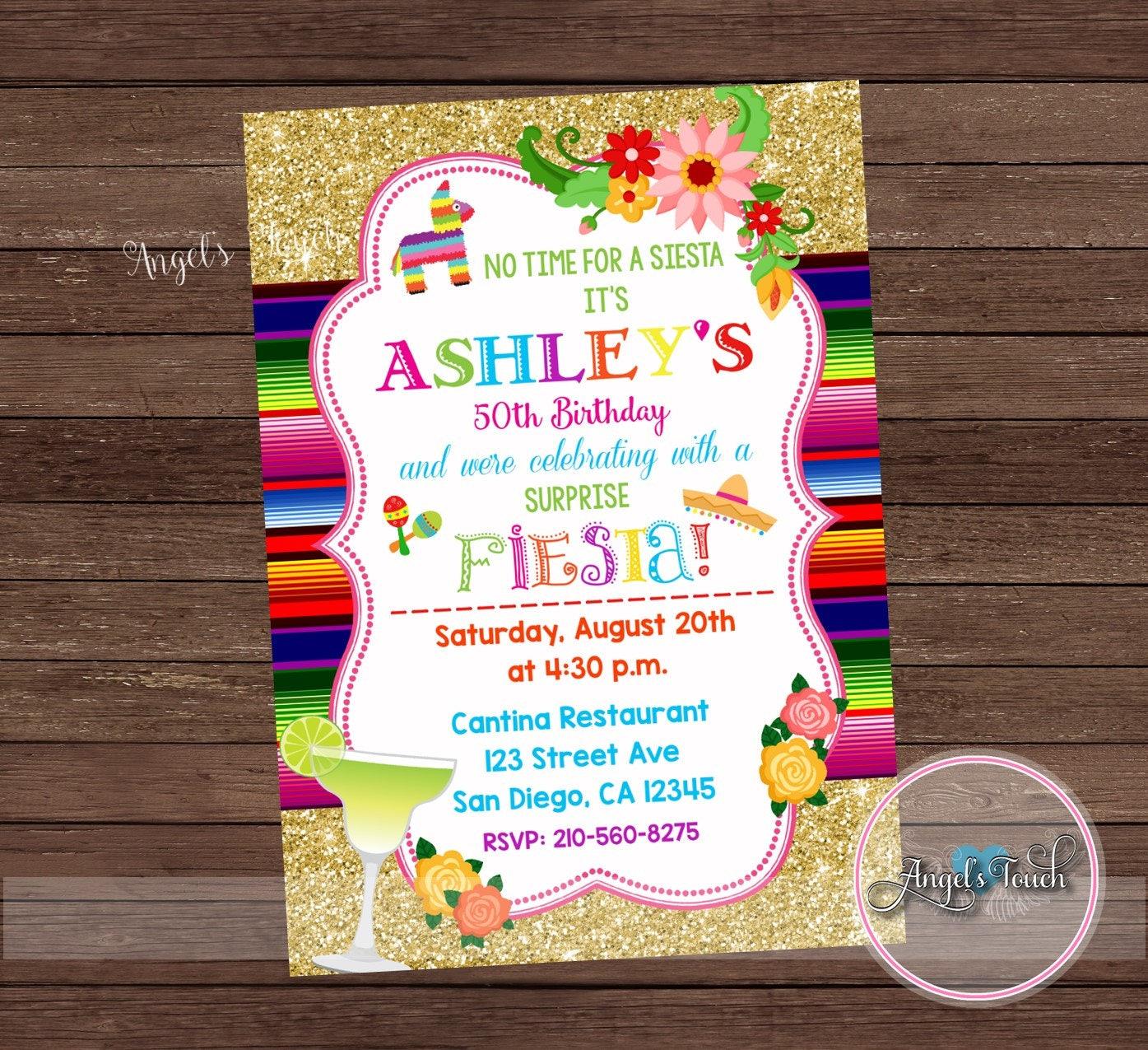 Fiesta Invitation, Fiesta Birthday Party Invitation, Mexican Fiesta ...