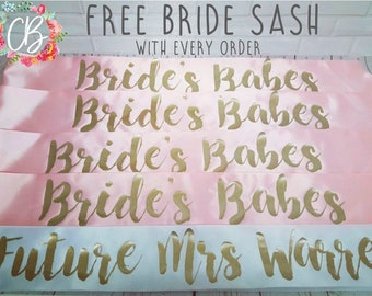 Pack of 5 Sashes With FREE BRIDE Sash *May Offer*