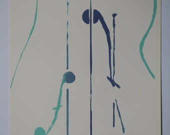 Silkscreen poster A3 - Violon d'ingres (thick paper, many colors)
