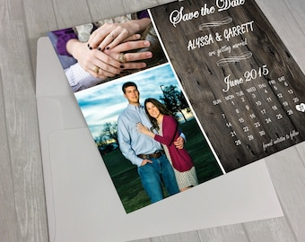 Rustic Shabby Chic Save the Date Cards