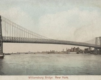 New York, NY - Williamsburg Bridge View (Art Prints available in multiple sizes)