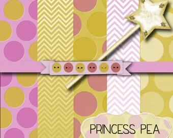 Princess Pea Digital Scrapbook Paper Kit