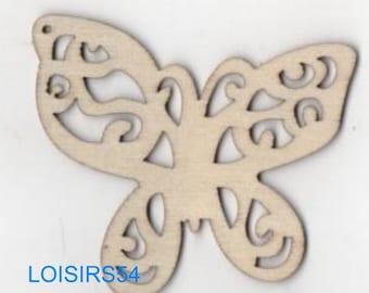Butterfly wood 65 mm x 40 mm blank