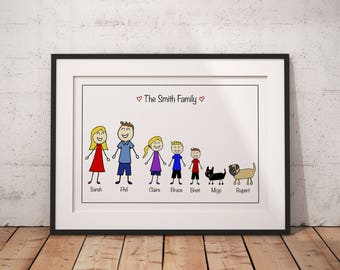 Fathers day gift, husband gift, family print, personalised gift, personalised family print, trending now, grandparent gift, custom family