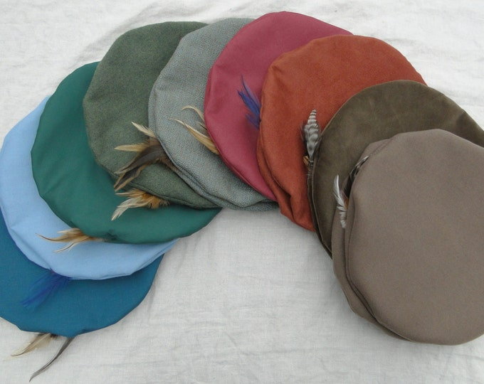 Renaissance Hats - Medieval Mens or Womens - Lots of Color & Fabric Choices!