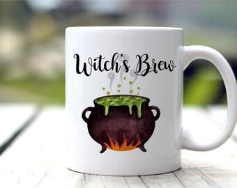 Witch's Brew Mug, Halloween Mug, Witch Coffee Cup