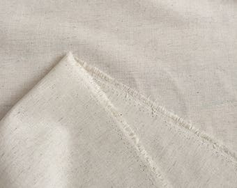 Cream Cotton Linen Fabric by the Yard Natural Fiber Linen Blend Flax Cotton Apparel Clothing Fabric Home decor Craft Cool Breathable Fabric