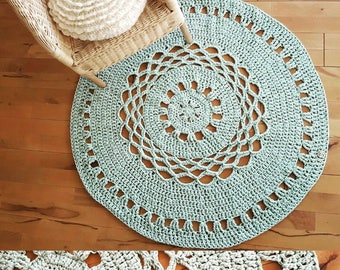 Crochet Rug from cotton
