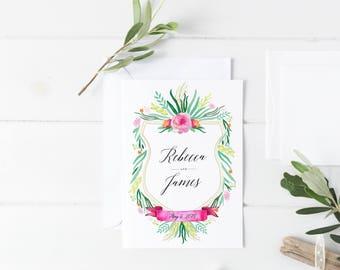 Wedding Monogram, Semi-Custom Crest Wedding Logo, Monogram Crest, Heraldry, Floral Monogram, Floral Wedding Crest, Wedding Monogram Design