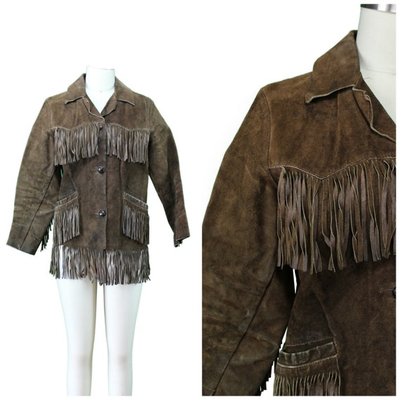 Fringe Leather Jacket - Authentic Vintage