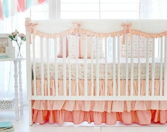 Peach Once Upon a Time Baby Bedding Set