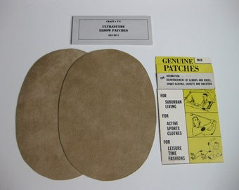 Elbow Patches - Tan Ultrasuede - Set of 2
