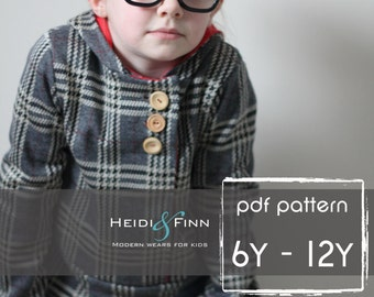 Urban Unisex Hoodie pattern and tutorial 6- 12 years PDF pattern boy girl