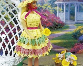 Springtime Sundress Annies Fashion Doll Crochet Pattern Club FC17-03