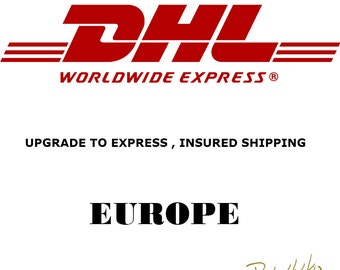 Upgrade DHL express secure insured shipping All European countries