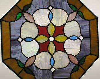 "18"" X 18"" Stained Glass ""Purpose"" Mandala Pattern PDF B&W Digital Download"