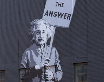 new york photography new york city decor nyc photography wall art einstein love is the answer banksy new york city street art urban decor
