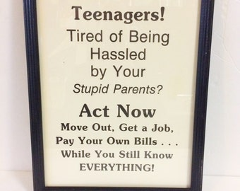 Teenagers Retro Framed Print