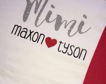 Mimi Raglan - Grandma Shirt - Mema Shirt - Nana Shirt - Glitter Baseball T- Shirt - Baseball Tee - Grandma Gift