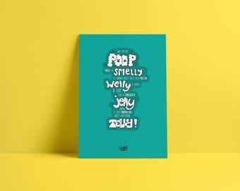 A Poem about Poop!  - Original Hand Illustration