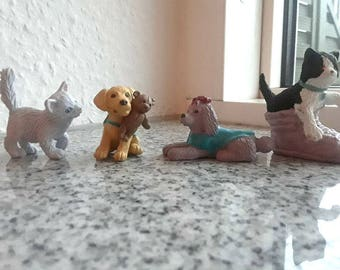 Vintage Kitty in My Pocket, puppy in my pocket - Pollyanna, Oliver, Christie, Ginny - Love N Sparkle, series 1 - Pony in my Pocket