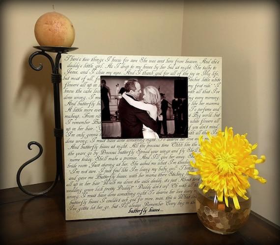 SALE! Best Wedding Gift, Custom Picture Frame, Song Lyrics, Table ...