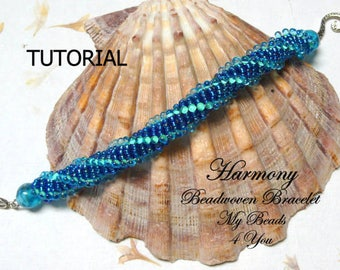 Beading Tutorial, DIYBracelet Pattern,Seed Beads,DutchSpiral Bracelet Tutorial,Seed Bead Pattern,Beading Tutorials and Patterns, MyBeads4You
