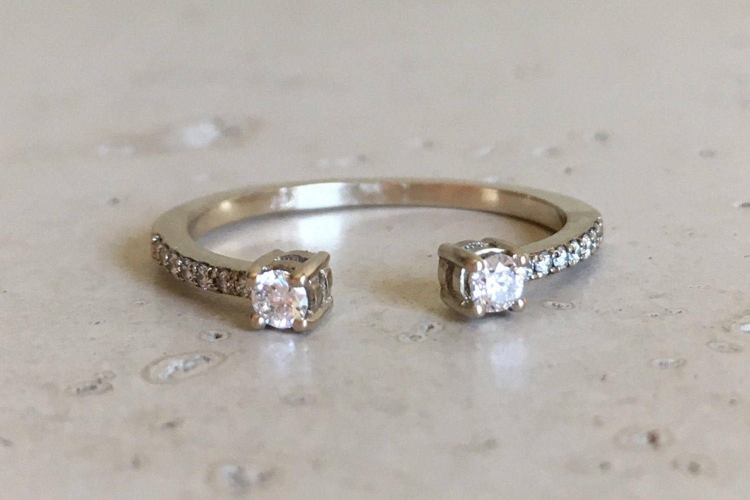 stackable bands white elegant simple media solid ringstackable gold diamond ring bandsimple wedding space apart band