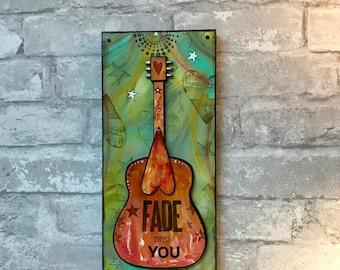 Fade Into You, Mazzy Star, Indie rock, music art, guitar art, music inspired, Valentines gift, under 50, custom art, girlfriend, boyfriend