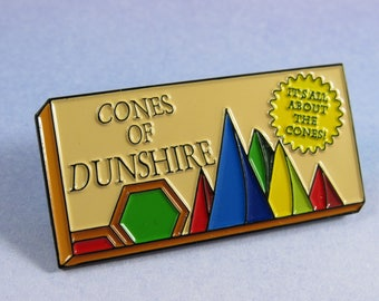 Cones of Dunshire, parks and recreation pin, pawnee indiana pin, ben wyatt, it's all about the cones, board game pin