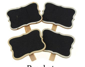 Chalkboard Wooden Clothespins Party Favors, 4-Piece