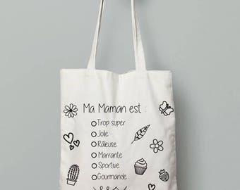 Tote bag coloring - MOM Christmas gift MOM