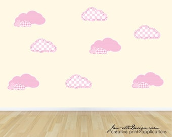 Nursery Cloud Wall decals, Cloud Wall Stickers, Wall Art