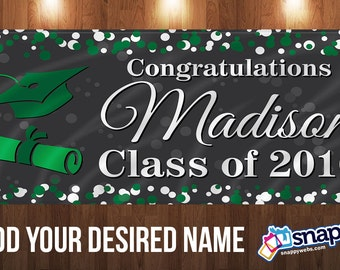Personalized Graduation Vinyl Banner with Grommets