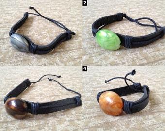 Colored Stone Black Lace Bracelets - Large Range of Styles Available!