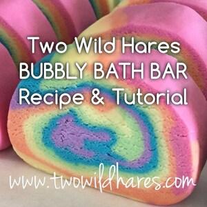 DIY Bubbly Bath Bar / Solid Bubble Bath Recipe Tutorial- FOOLPROOF! Two Wild Hares