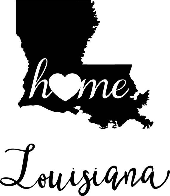 Louisiana State Map digital file SVG PNG Jpg eps Vector Graphic