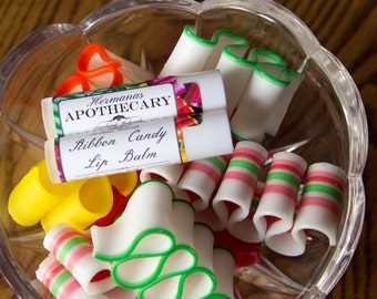 Ribbon Candy Lip Balm - All Natural - Hermanas Apothecary - Hand Poured