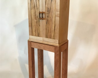 Cabinet in Maple with Cherry Stand