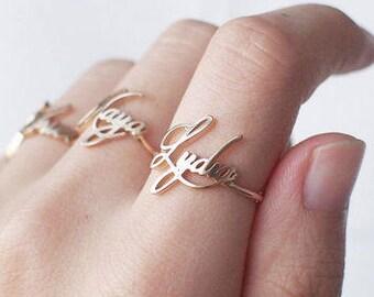 Custom Name ring - Personalized Name Ring
