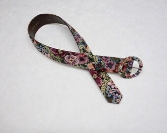 70s Vintage Floral Brocade Tapestry Belt