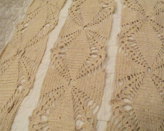 """Vintage Lace Hand Crocheted 73"""" x 4 1/2"""" wide SALE"""
