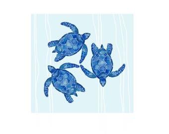 The Swimming Turtles Print