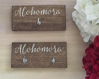 the original Alohomora mini - HARRY POTTER hand painted alohomora spell key rack holder