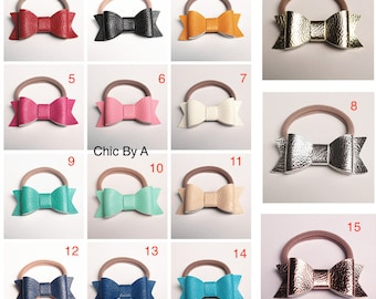 Blue, Pink, Yellow,White,Purple,Red,Black Leather,Hair ring accessories, Cute,Bands Lovely, Kids,Baby Girls Hair Accessories