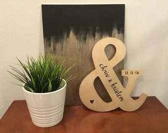 Metallic Gold or Silver Ampersand, And Symbol - Wedding Gift, Wedding Decoration, Anniversary Gift