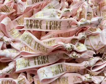 Bride Tribe Pink Elastic Hair Tie / Wrist Band / Hen party Favour