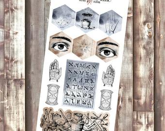 The Alchemist Hexagon planner stickers